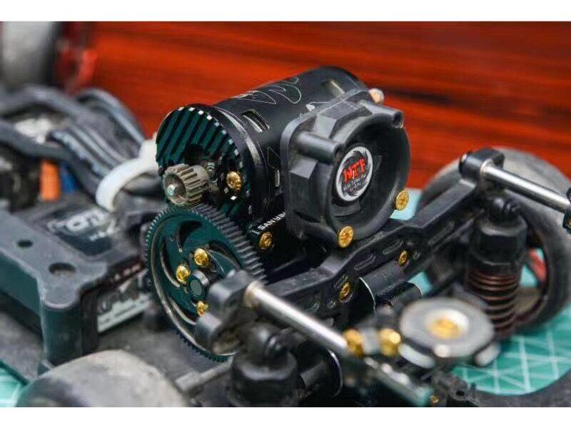 Usukani US88138 - Sanying Aluminium High Motor Mount & Fan Holder for YD-2 - Black