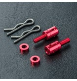 MST Aluminium Post M3 x 8mm (2pcs) / Color: Red