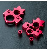 MST Aluminium Lateral Motor Transfer Mount Set / Color: Red