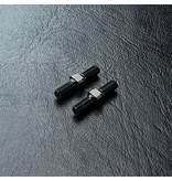 MST Aluminium Reinforced Turnbuckle φ3mm x 16mm (2pcs) / Color: Black