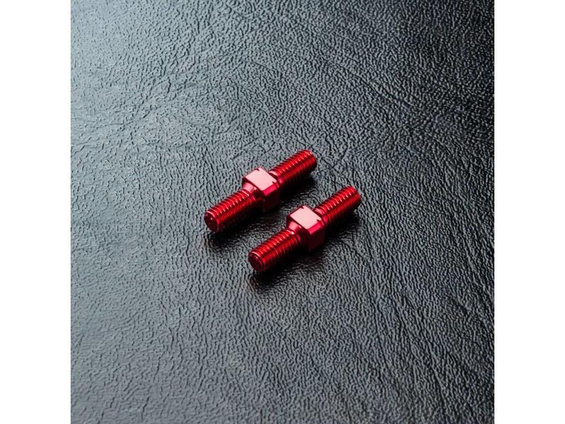 MST Aluminium Reinforced Turnbuckle φ3mm x 16mm (2pcs) / Color: Red