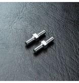 MST Aluminium Reinforced Turnbuckle φ3mm x 16mm (2pcs) / Color: Silver