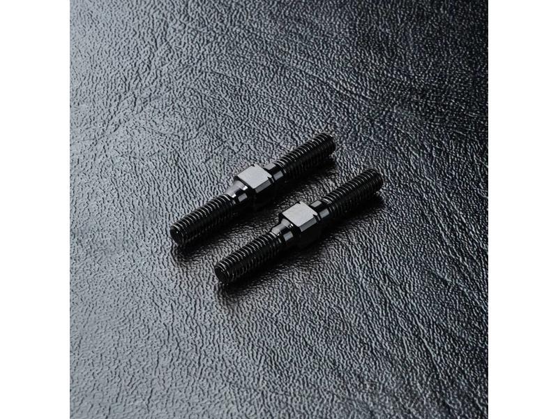 MST Aluminium Reinforced Turnbuckle φ3mm x 25mm (2pcs) / Color: Black