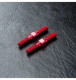 MST Aluminium Reinforced Turnbuckle φ3mm x 25mm (2pcs) / Color: Red
