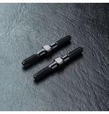 MST Aluminium Reinforced Turnbuckle φ3mm x 28mm (2pcs) / Color: Black