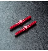 MST Aluminium Reinforced Turnbuckle φ3mm x 28mm (2pcs) / Color: Red