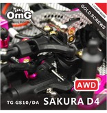 RC OMG TG-GS10/DA - Golden Screw Kit for Sakura D4 (AWD without Chassis screws)