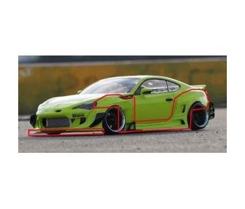 Addiction RC Toyota GT86 Rocket Bunny Body Kit V3 PANDEM - Side Skirt; Fender & Lip Spoiler Set