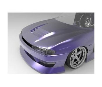 Addiction RC Nissan Silvia S14 (Late) - BN Sports Body Kit - Full Set with Aero Hood (Bonnet)