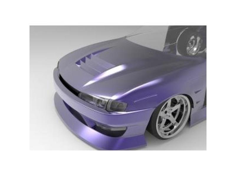 Addiction RC AD017-14 - Nissan Silvia S14 (Late) - BN Sports Body Kit - Full Set with Aero Hood (Bonnet)