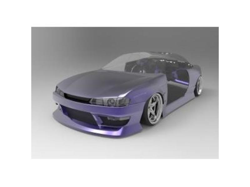 Addiction RC AD017-11 - Nissan Silvia S14 (Late) - BN Sports Body Kit - Full Set with Normal Hood (Bonnet)