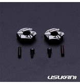 Usukani US88146 - Aluminium Clamping Wheel Hub 4.0mm (2pcs)