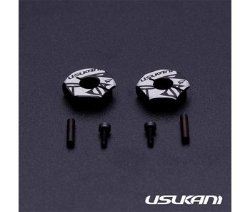 Usukani Aluminium Clamping Wheel Hub 4.0mm (2pcs)