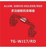 RC OMG TG-WJ17/RD - Aluminium Servo Holder - Red