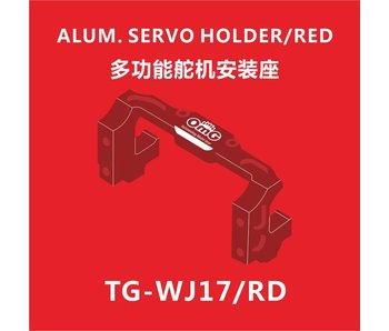 RC OMG Aluminium Servo Holder - Red