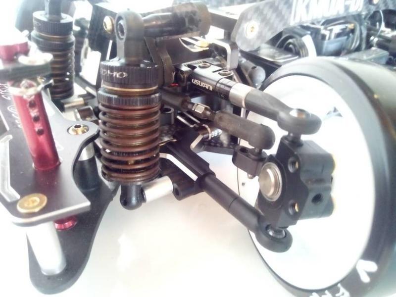RC OMG TG-WJ14/BK - Front Lower Arm Set for YD-2