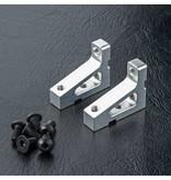 MST Aluminium Stretch Servo Mount (2pcs) / Color: Silver