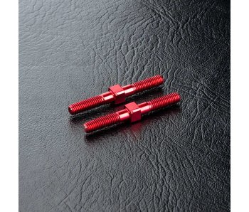 MST Steel Turnbuckle φ3x28mm (2) / Red - DISCONTINUED