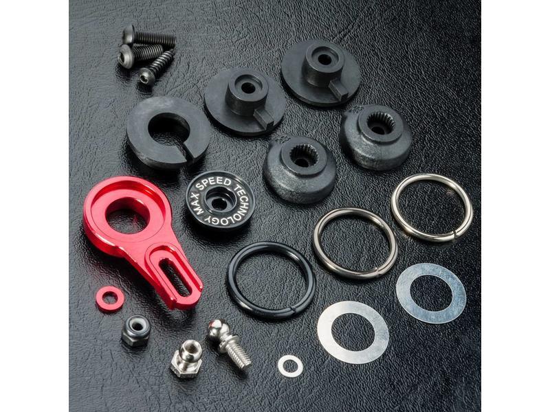MST Aluminium 8-Adjusting Servo Saver / Color: Red