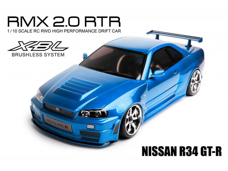 MST RMX 2.0 2WD 1/10 Drift Car RTR - Brushless 2.4G / Body: Nissan R34 GT-R - Blue