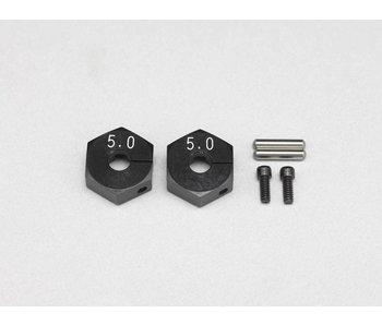 Yokomo Clamp Type Wheel Hub 5.0mm - Black (2pcs)