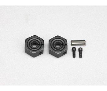 Yokomo Clamp Type Wheel Hub 6.0mm - Black (2pcs)