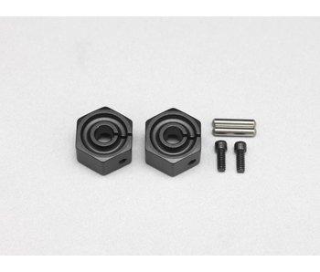 Yokomo Clamp Type Wheel Hub 7.0mm - Black (2pcs)