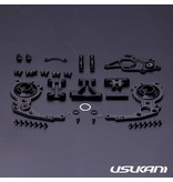 Usukani PDSP-25 - Carbon Open Type Three-Gear Drive Rear Gear Box for PDS/YD2