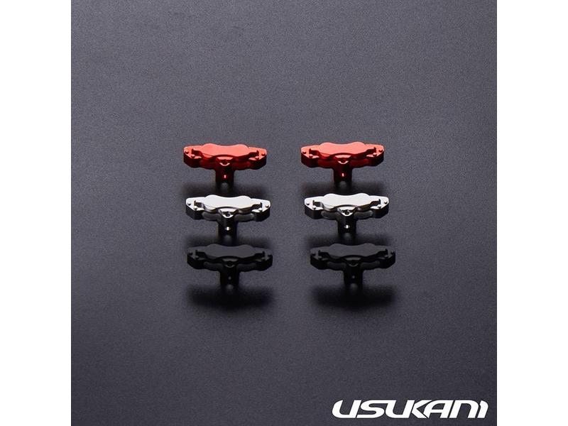 Usukani US88187-R - Aluminium Brake Calipers Small for PDS/MST (2pcs) - Red