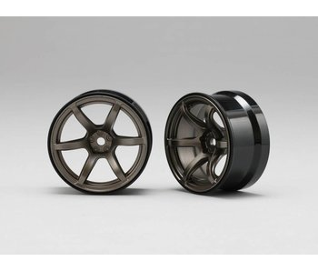 Yokomo RP High Traction Type Drift Wheel 6mm Offset - Titanium (2pcs)