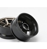 Yokomo RP-6313T6 - RP High Traction Type Drift Wheel 6mm Offset - Titanium (2pcs)