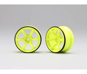Yokomo RP High Traction Type Drift Wheel 6mm Offset - Yellow (2pcs)