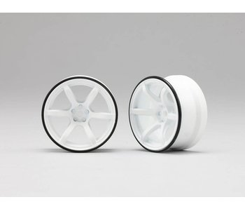 Yokomo RP High Traction Type Drift Wheel 6mm Offset - White (2pcs)