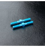 MST Aluminium Turnbuckle φ3mm x 28mm (2pcs) / Color: Blue - DISCONTINUED