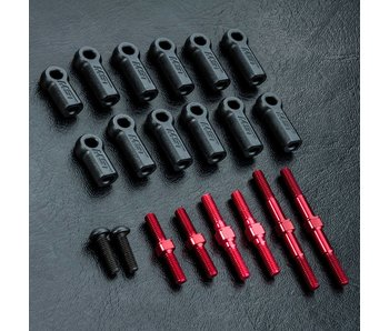 MST RMX 2.0 S Turnbuckle Shaft Set / Red