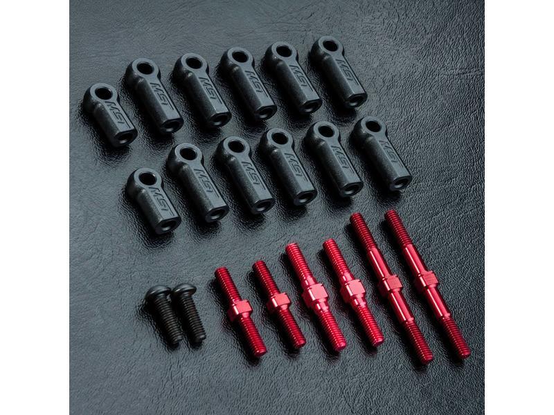 MST RMX 2.0 S Turnbuckle Shaft Set / Color: Red