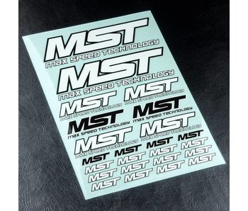 MST MST Sticker / White-Black