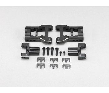 Yokomo Aluminum Adjustable Rear Short H-Arm Set - Black Edge Design