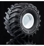 MST Monster Truck Wheel & Tire Set (2pcs) / Color: White