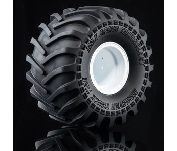 MST Monster Truck Wheel&Tire Set (2) / White