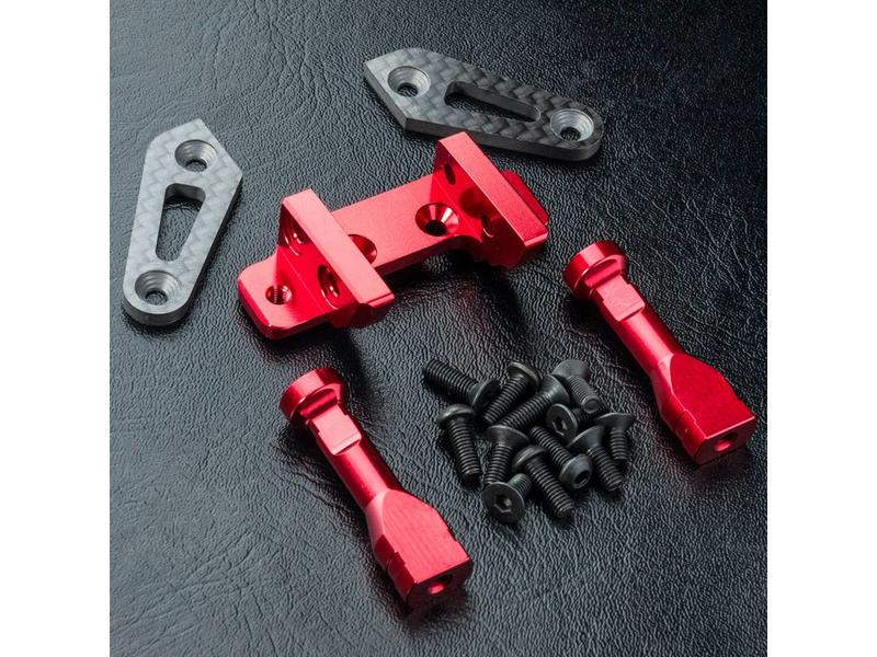 MST RMX 2.0 Aluminium Adjustable Front Connect Mount / Color: Red