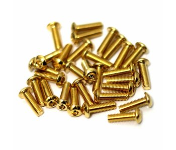 RC OMG Golden Screw Button Head M3 x 10mm (20pcs)