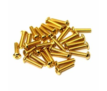RC OMG Golden Screw Button Head M3 x 12mm (20pcs)