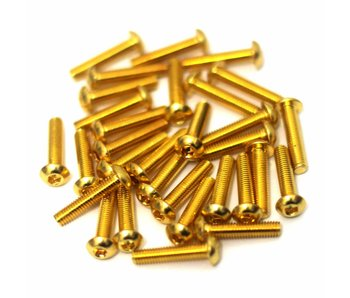 RC OMG Golden Screw Button Head M3 x 14mm (20pcs)