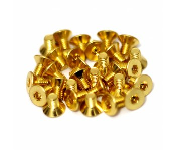 RC OMG Golden Screw Flat Head M3 x 5mm (20pcs)