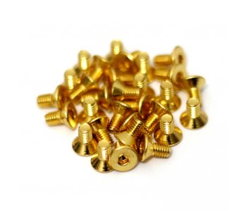 RC OMG Golden Screw Flat Head M3 x 6mm (20pcs)