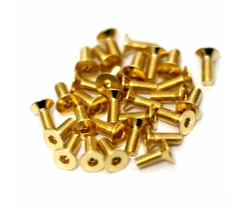 RC OMG Golden Screw Flat Head M3 x 8mm (20pcs)