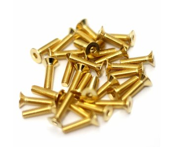 RC OMG Golden Screw Flat Head M3 x 12mm (20pcs)