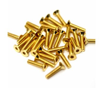 RC OMG Golden Screw Flat Head M3 x 14mm (20pcs)
