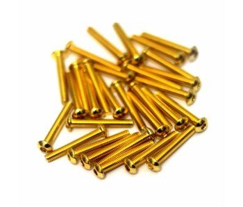 RC OMG Golden Screw Flat Head M3 x 16mm (20pcs)